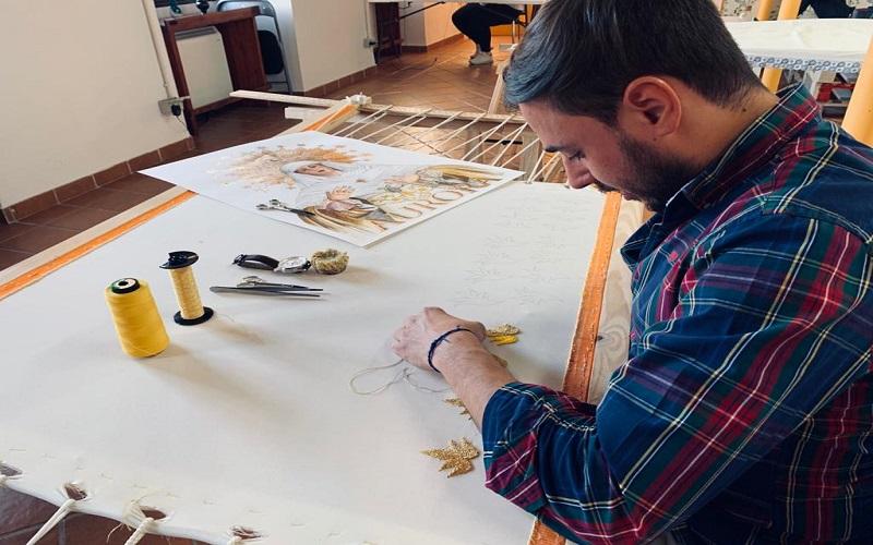 Arte del bordado artesanal
